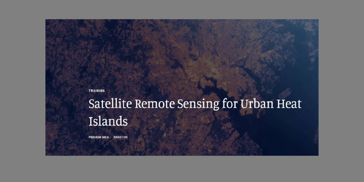Training on Urban Heat Island effect
