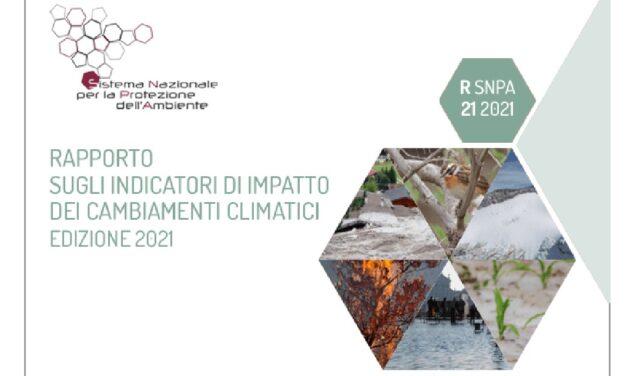 SNPA: Report on climate change indicators, 2021
